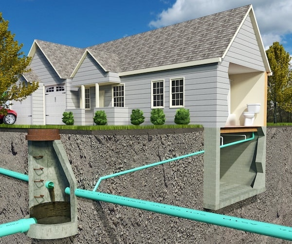 Sewer Line Underneath Home Illustration